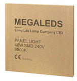 48w Recessed Ceiling LED Panel 6500K Pure White 600 x 600