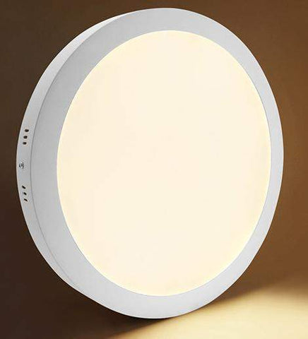 24w Surface Mount LED Round Panel 3500K Warm White 300mm