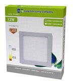 12w Recessed Ceiling LED Square Panel 3000K Warm White 170 x 170