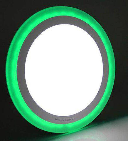 18w Recessed Ceiling LED Round Panel Green 242mm