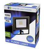 10w Outdoor LED PIR Floodlight IP65 Waterproof Cool White 6000k