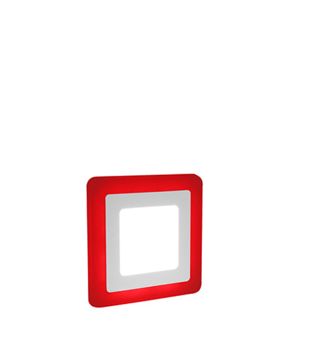 6w Recessed Ceiling LED Square Panel Red 142 x 142