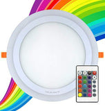18w RGB Round LED Ceiling Panel with 6w Colour Changing Ring Remote Controlled