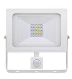 50w Outdoor LED PIR Floodlight White Body IP65 Cool White 6000k