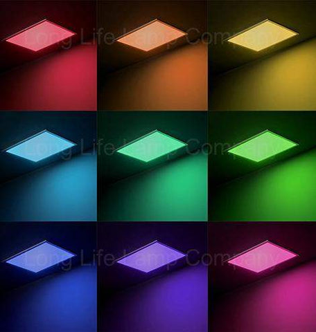 40w RGB Bluetooth Ceiling Panel Colour Changing Remote and App Controlled 600 x 600