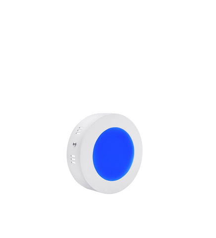 6w Surface Mount Ceiling LED Round Panel Blue 120mm