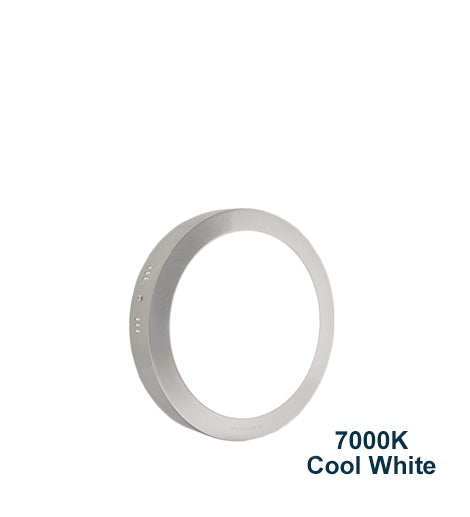 18w Surface Mount Stainless Steel LED Round Panel 7000K Cool White 225mm