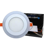 6w Recessed Ceiling LED Round Panel Blue 145mm