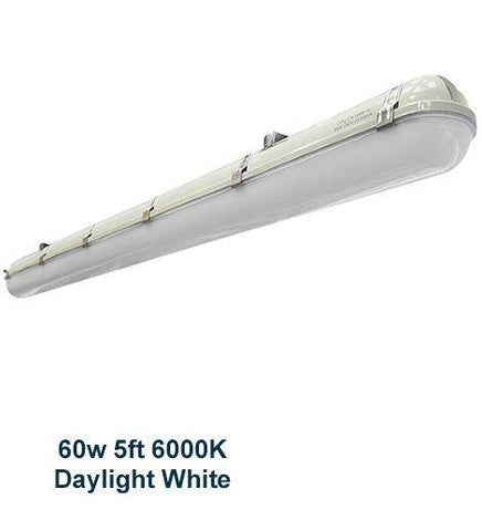 60w 5 feet LED Ceiling Batten Light Triproof Fitting IP66 6000K