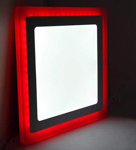 18w Recessed LED Square Panel Red 242 x 242
