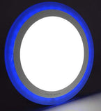 18w Recessed Ceiling LED Round Panel Blue 242mm