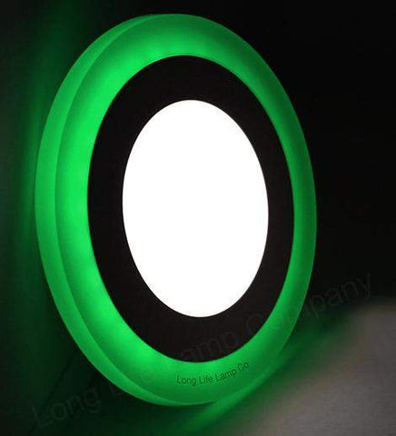 6w Recessed Ceiling LED Round Panel Green 145mm