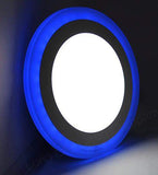 12w Recessed Ceiling LED Round Panel Blue 195mm