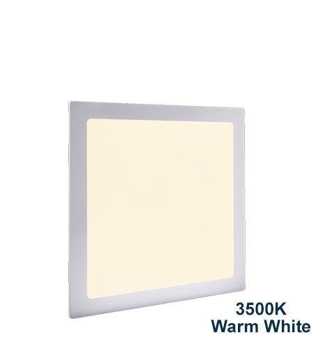 24w Recessed Ceiling LED Square Panel 3500K Warm White 300 x 300