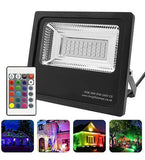 30w Outdoor RGB LED Black Floodlight IP65 Waterproof Colour Changing