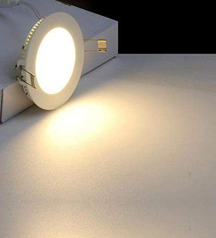 18w Recessed Ceiling LED Round Panel 3500K Warm White 220mm