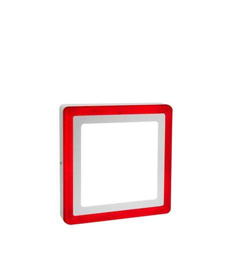 18w Surface Mount Ceiling LED Square Panel Red 245 x 245