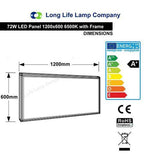 72w Surface Mount LED Panel 6500K Cool White Light 1200 x 600