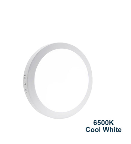 24w Surface Mount LED Round Panel 6500K Cool White 300mm