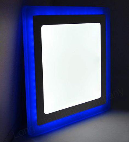 18w Recessed Ceiling LED Square Panel Blue 242 x 242