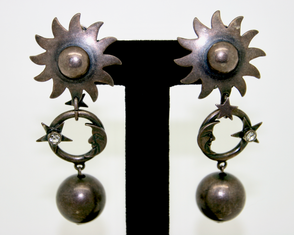 1980's ASKEW London sun & moon earrings