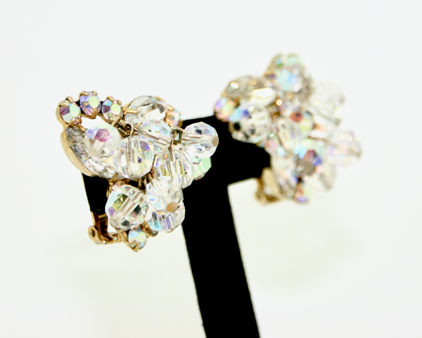 1960's JULIANA dangling crystals earrings