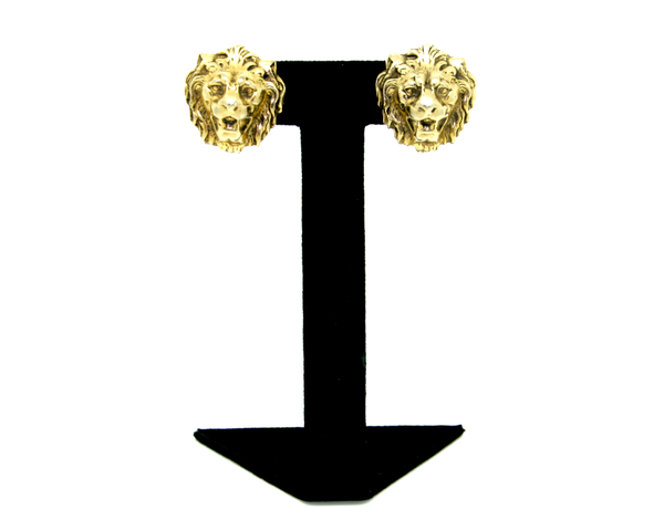 1950-60's Accessocraft NY Lion face earrings