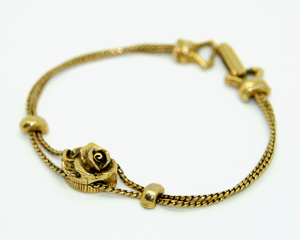 1950's GOLDETTE antique gold rose slider bracelet