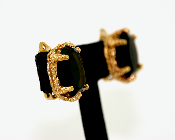 1960's PANETTA topaz modernist earrings