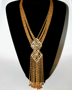 1950's GOLDETTE bezel set long fringe