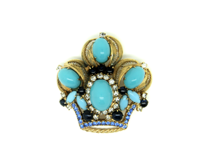 1960's rare JULIANA turquoise crown