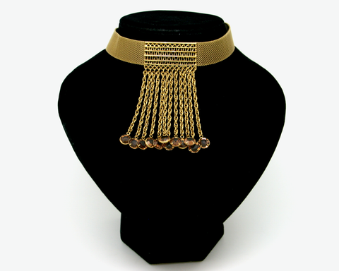 1950's GOLDETTE mesh drop choker