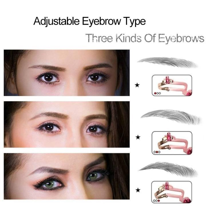 Adjustable Eyebrow Shapes Stencil