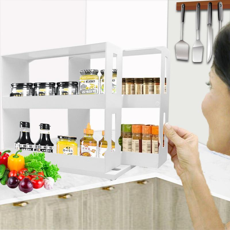 (Free Shipping)-Rotatable multifunction storage rack