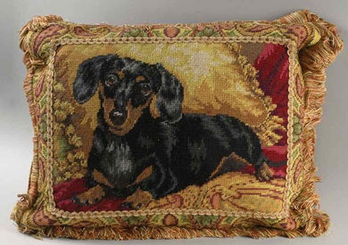 Danbury Mint Needlepoint Dachshund Pillows