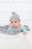 Swaddle Blanket and Hat Set - Gray
