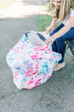Car Seat Canopy and Breastfeeding Cover - Flora