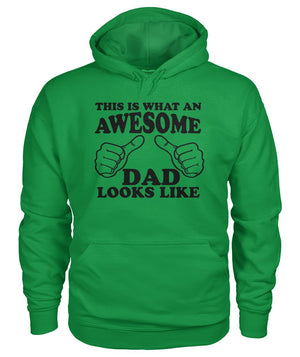 What An Awesome Dad Looks Like Hoodie