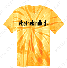 TIE DYE Youth Short Sleeved T-Shirt (Crew Neck)