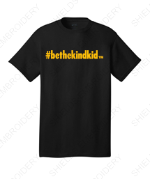 BLACK and GOLD Adult Short Sleeved T-Shirt (Crew Neck)