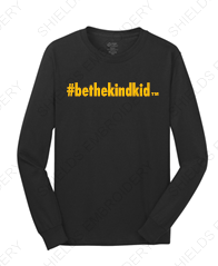 BLACK and GOLD Adult Long Sleeved T-Shirt (Crew Neck)