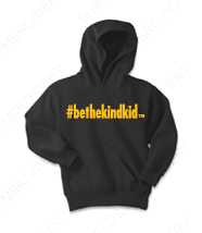 Black and Gold Youth Hoodie