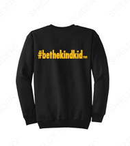 Black and Gold Adult Crew Neck Sweatshirt