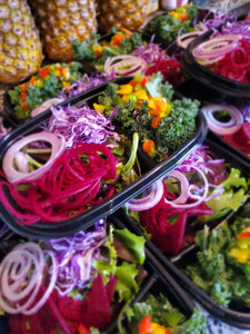 Organic Raw Salad with the Works Meal Preparation