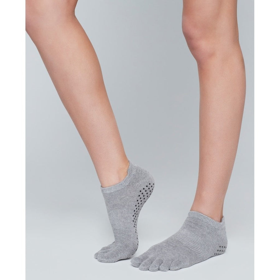 Moonchild Grip Socks - Grey Low Rise