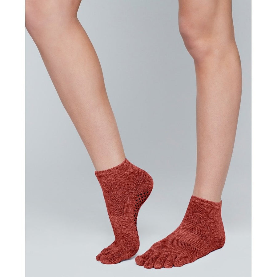 Moonchild Grip Socks - Intense Rust Low Rise