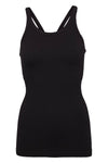 Y-Back Tank W/ Bra - Black