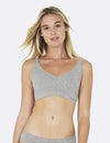 Bambus Shaper Crop Bra - Light Grey