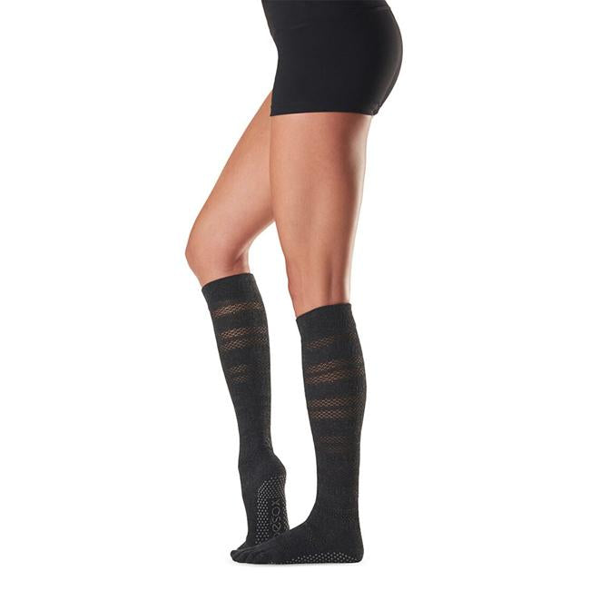 Toesox Fulltoe Scrunch Knee  High - Merci (Black)