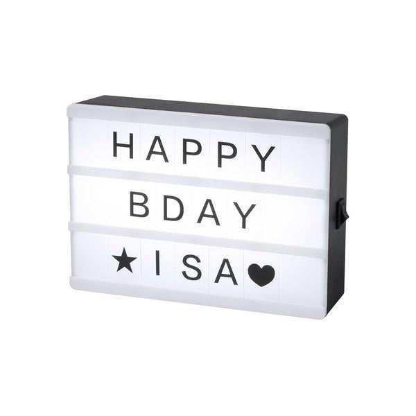 Message box LED personnalisable GalaxiShop